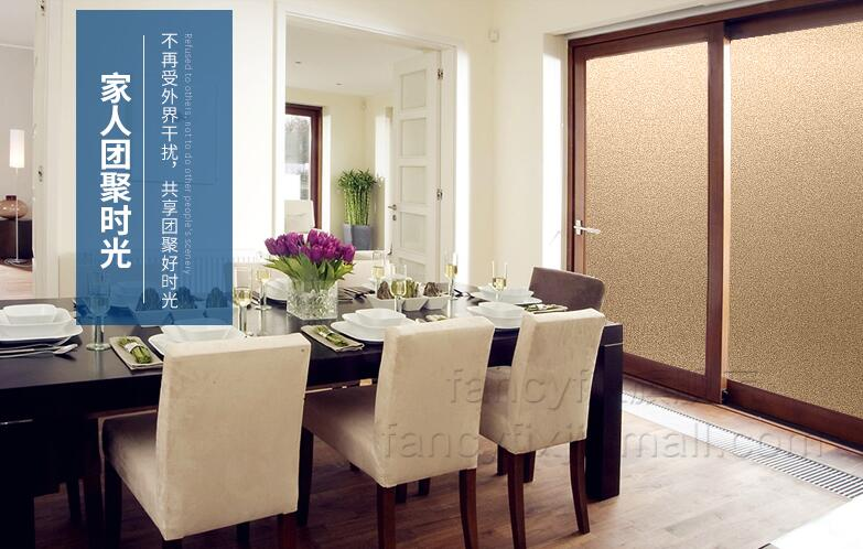 golden Pure scrub new film window stickers bathroom without glue Vinyl matt decals Explosion proof grilles paper 50*200cm pervious to light decoration bathroom window film stickers opaque applique