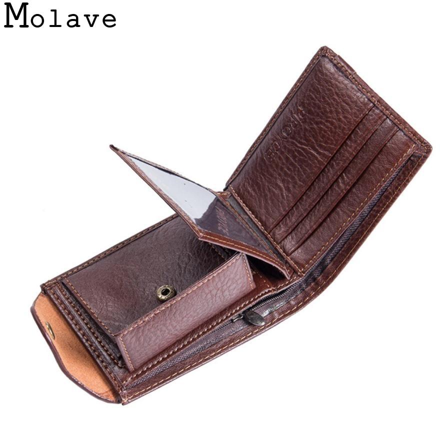 New Men/'s Leather Bifold ID Card Holder Purse Wallet Billfold Handbag Clutch
