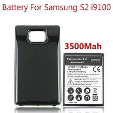 3500mah Thicker Bateria For Samsung Galaxy S2 Battery i9100 Bateria + Black Color Extended Backup Back Cover
