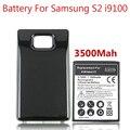 3500 мАч Толще Bateria Для Samsung Galaxy S2 i9100 Батареи Bateria + Черный Цвет Расширенный Резервное Копирование Задняя Крышка