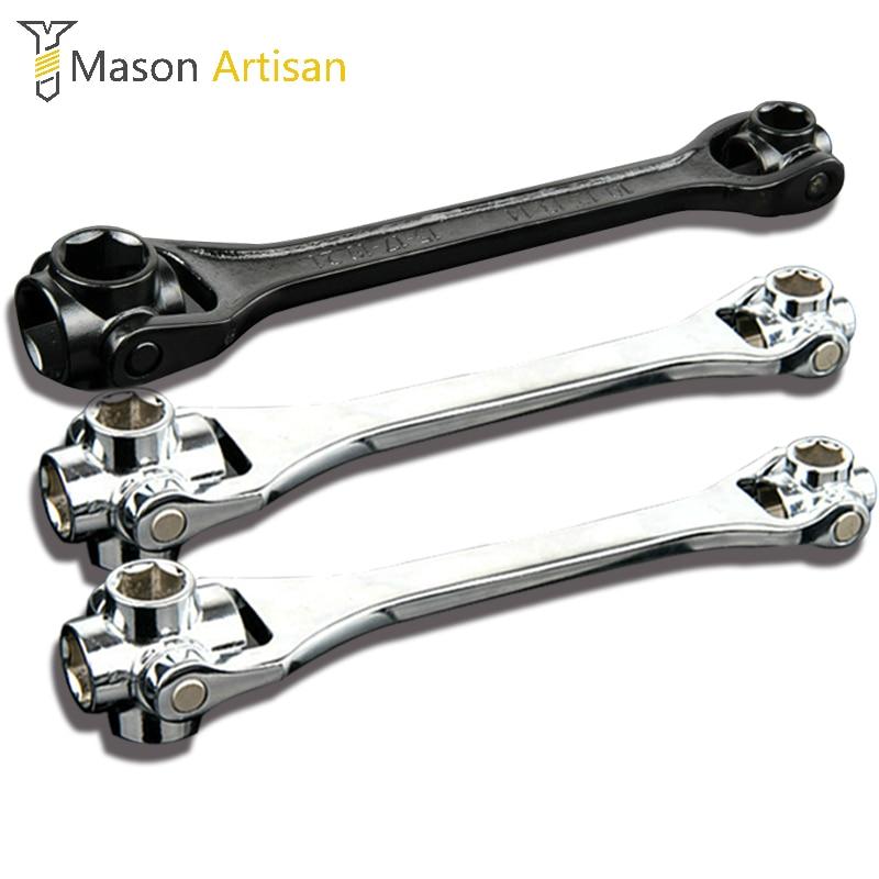1Piece Household Wrench 12-19/8-21/10-22mm 8 IN 1 Socket Wrench Spanner Key Multi Tool Hand Tools Herramientas Ferramentas