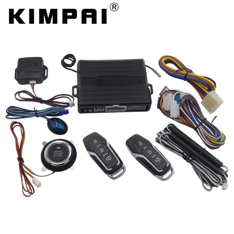 12v Car Alarm System Keyless Entry Push Button Start: KIMPAI 9007 PKE Car Keyless Entry System For Ford Engine