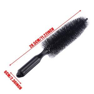 Image 5 - New Black Car Wheel Tire Cleaning Brush 1 pc Rim Hub Scrub Brush Vehicle Practical Washing Cleaning Tool