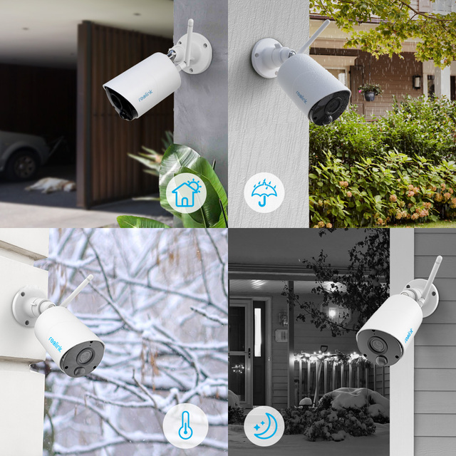 Reolink 100% Wireless Security IP Camera Argus Eco and Solar Power Full HD 1080P Outdoor Video Surveillance 3