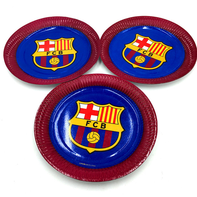 10pcs/lot new football team round plates kids birthday party supplies football paper dishes square  sc 1 st  AliExpress.com & 10pcs/lot new football team round plates kids birthday party ...
