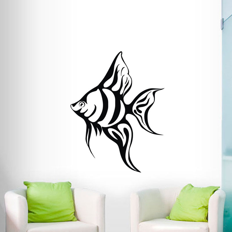 Us 3 99 25 Off Tropical Fish Wall Decal Vinyl Art Stickers Home Decor Creative Living Room Wall Stickers Adhesive Wall Decoration In Wall Stickers