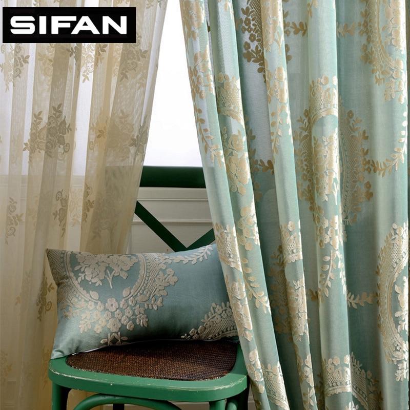 Buy European Jacquard Blackout Curtains For The Bedroom Eleg