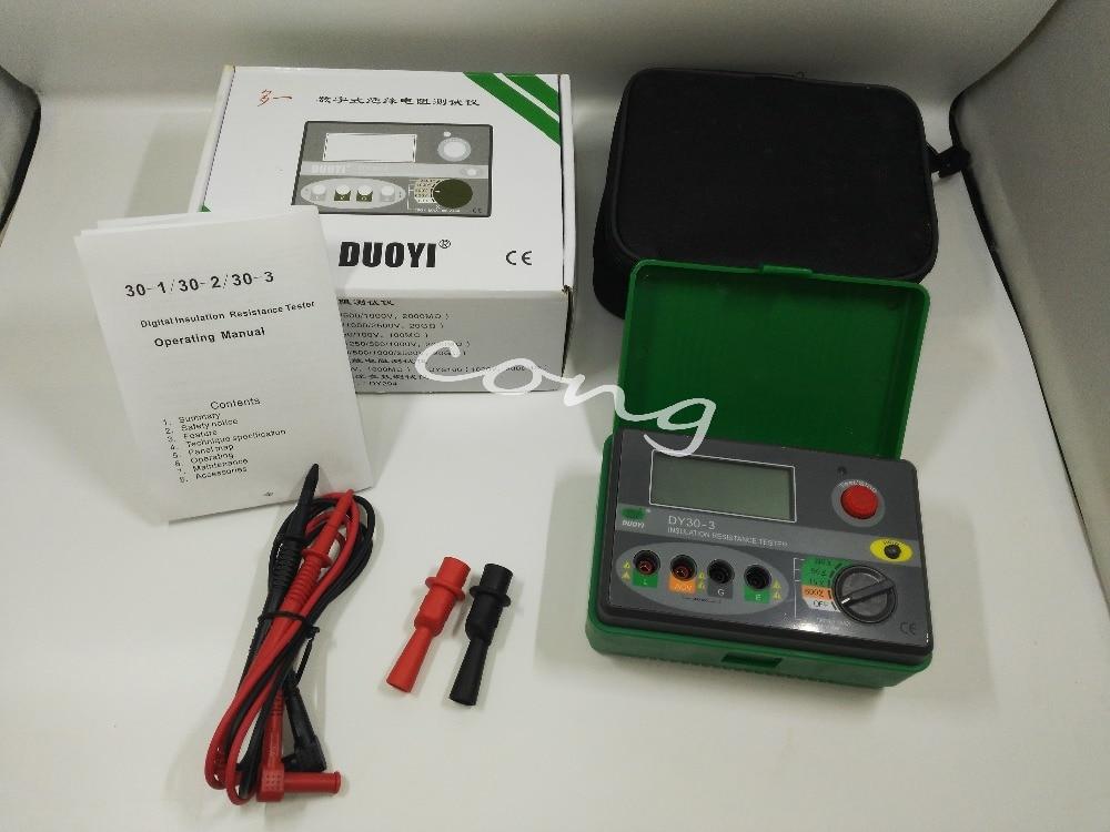DY30-3 Digital Insulation Resistance Tester Megger Megohmmeter 15/50/100V 100M ohm