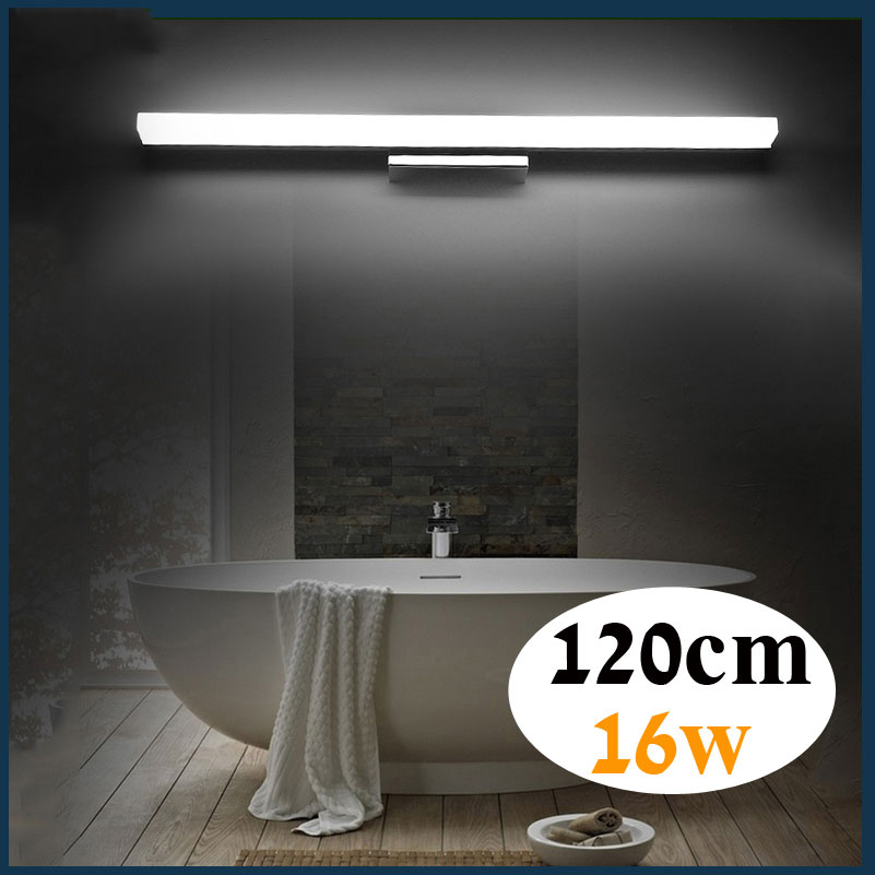 ECOBRT 12W 60CM Long LED Bathroom Wall Lights Modern Style Indoor ...