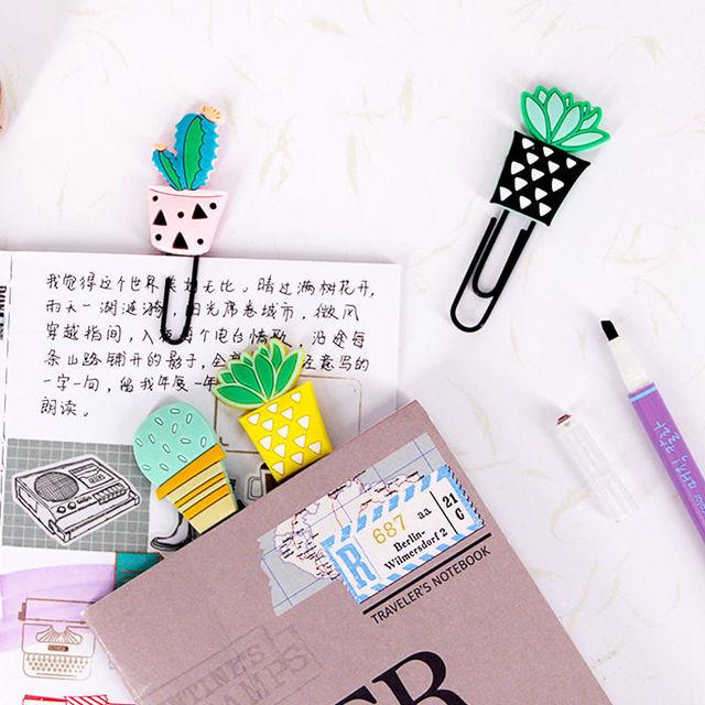 4PCS/Set Cactus Paper Clips