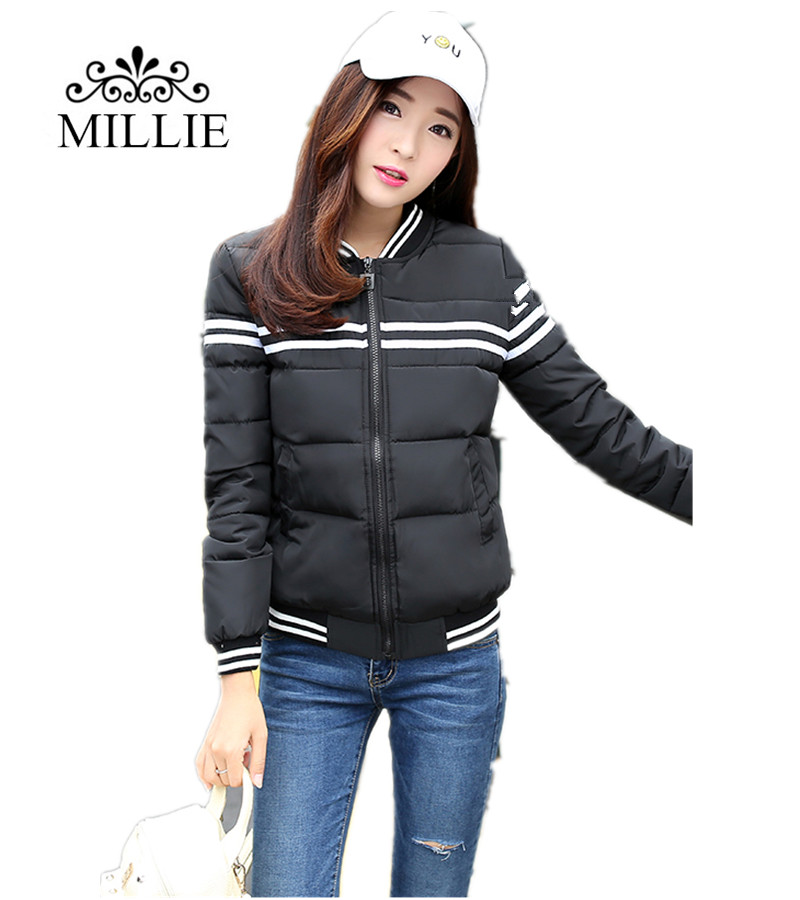 2016 New winter jacket women Korea fashion uniform warm jackets winter coat women cotton Female Femme Outerwear