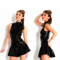785 New Arrival Plus Size Women Sexy Lingerie Stripper PVC Latex Catsuit Ploe Dancing Babydolls Teddies