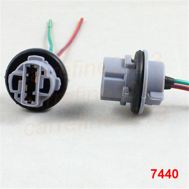 Rockeybright T20 7440 Car Lamp Cable 7440 Bulb W21/5W LED Bulb Socket 7440 Turn  Light LED T20 Lamp Holder Plug Connector Cable In Base From Automobiles ...