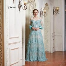 Finove Prom Dresses A-Line Floor Length Dress For
