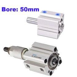 Cylindre à air à Double action à tige/course réglable 10/20/30/40/50/75/100mm, alésage 50mm SDAD/SDAJ