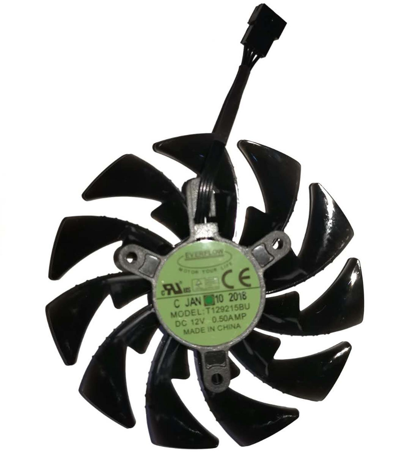 Image 5 - 95mm T129215BU DC 12V 0.55A PLD10015B12H GTX1070 GTX1080 fan For GIGAYTE AORUS GeForce GTX 1080Ti Xtreme Edition Video Card fan-in Fans & Cooling from Computer & Office