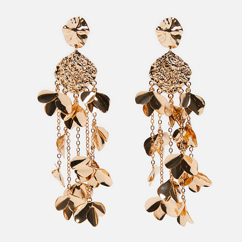 """EXTRA LONG 4/""""//10cm DROP FILIGREE EARRINGS WITH BUTTERFLIES /& CHAINS  £4.99 NWT"""