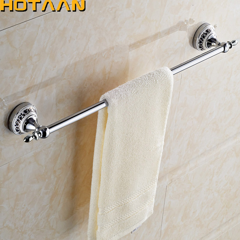 (24,60cm)Single Towel Bar With Ceramic Chrome Finish/Towel Holder,Towel Rack,Bathroom Accessories Free Shipping YT-11896 free shipping contemporary chrome finish stainless steel single towel bar 7804