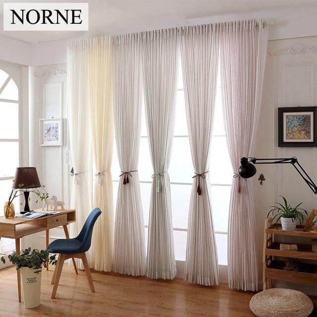 NORNE Moderno Tulle Voile Tende Per Camera Da Letto Finestra Ragazze ...