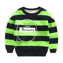 The boy with cashmere sweater 2016 new winter kids children baby T-shirt bottoming shirt stripe jumper thick