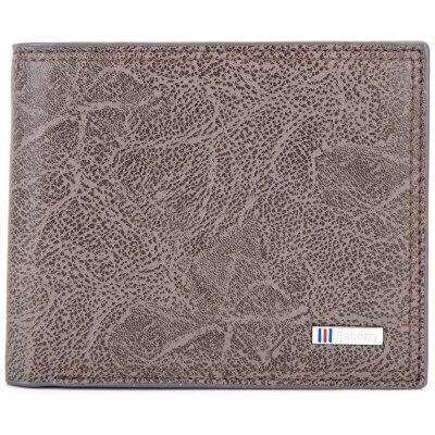 Мужской кошелек с блокировкой RFID, мужской модный кошелек из искусственной кожи, мужские кошельки с защитой личности MRF27 - Цвет: Серый