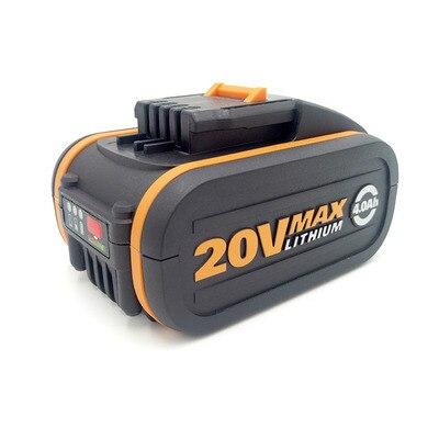 Batterie Orange pour Worx 20 V 4000 mah batterie Li-ion pour LED d'outils électriques