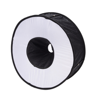 Newest Portable 45CM Round Flash Diffuser Universal Folded Magnetic Ring Flash Diffuser Softbox For Macro Portrait