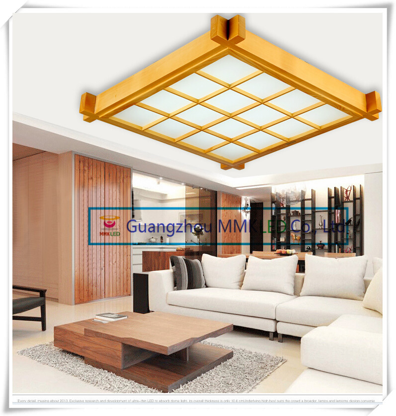 Japanese-style wood LED ceiling lamp Sheepskin cover Ultrathin Tatami bedroom living room study lamps White 38cm 16W AC200-240V japanese tatami wood led ceiling lamp simple bedroom lamps ultra thin living room ceiling lights new restaurant indoor led lamp
