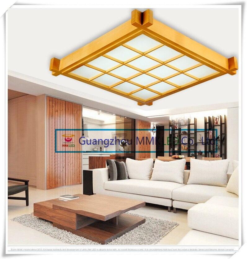 Japanese Style Wood LED Ceiling Lamp Sheepskin Cover Ultrathin Tatami Bedroom Living Room Study Lamps White 38cm 16W AC200 240V