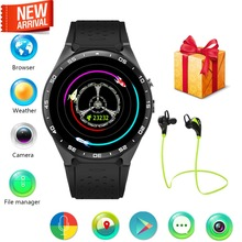 Android 5.1 OS MTK6580 Smart Watch Wrist Smartwatch Telefon 1,39 zoll 400*400 HD Touchscreen pulsmesser 3G wifi google