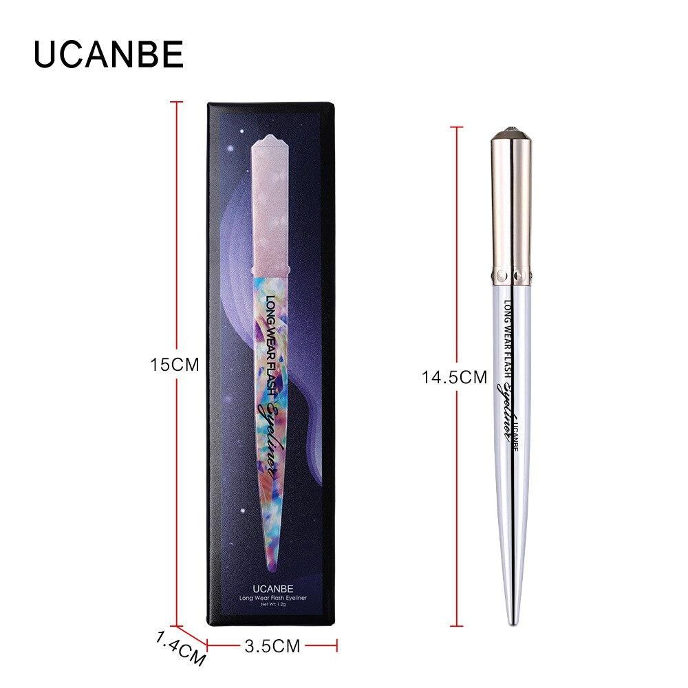 Ucanbe makeup glitter eyeliner pencil 5colors purple blue green eye liner waterproof long lasting liquid white eyeliner AU045 13