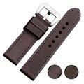 Importado Couro de Bezerro Assista Bracelete & Pulseira Banda Mão Costura 22mm 24mm 26mm
