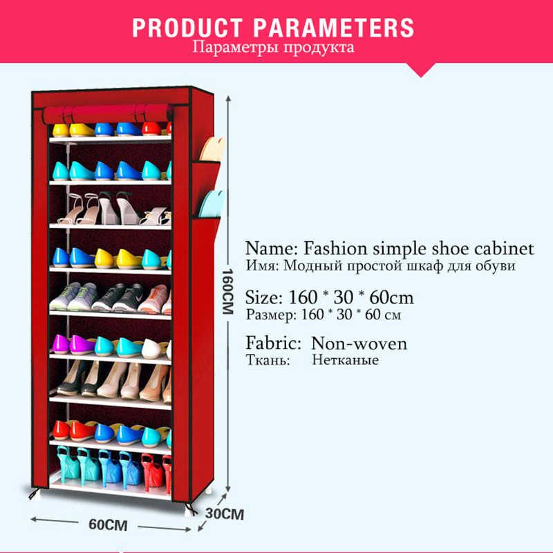 9 ящиков обувь полки большой обуви стойки стул шкаф для хранения обуви Организатор молния Sapateira складной шкаф
