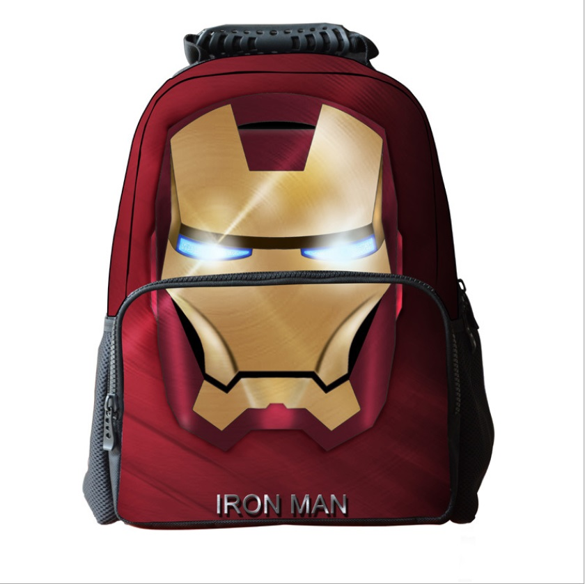 New Cartoon Iron Man School Bags Fashion Kids School Backpacks Children Schoolbags Mochila Infantil For Boys Girls delune new european children school bag for girls boys backpack cartoon mochila infantil large capacity orthopedic schoolbag