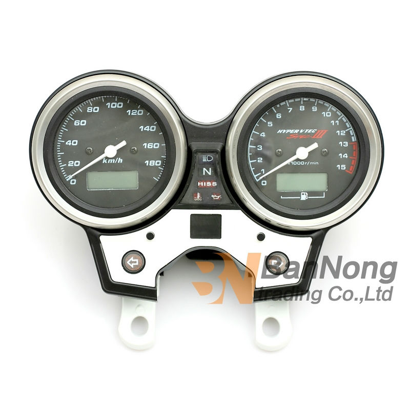 Motorcycle Gauges Cluster Speedometer Tachometer Odometer KM/H RPM Instrument Assembly For HONDA CB400 VTEC 3 2005-2007 02-2008