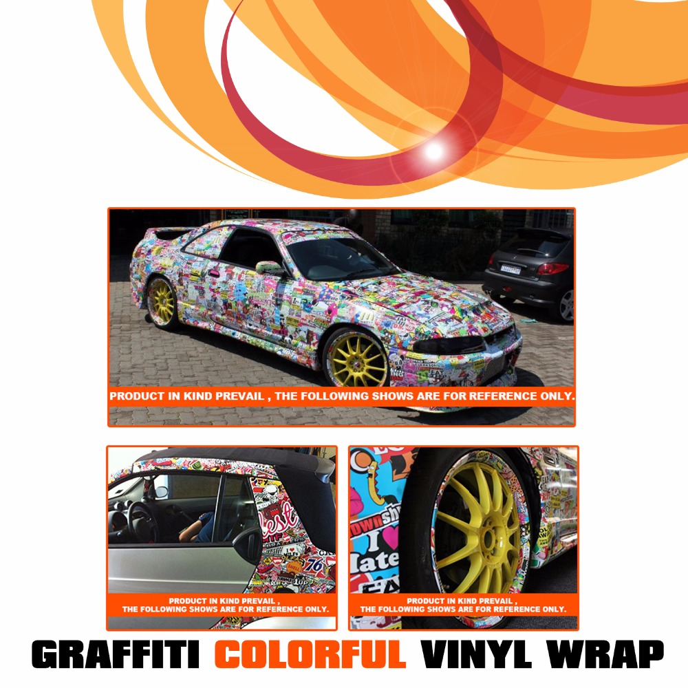 Car styling truck suv 3 15x60 8x152cm graffiti cartoon camouflage anime wrap film decal sticker vinyl