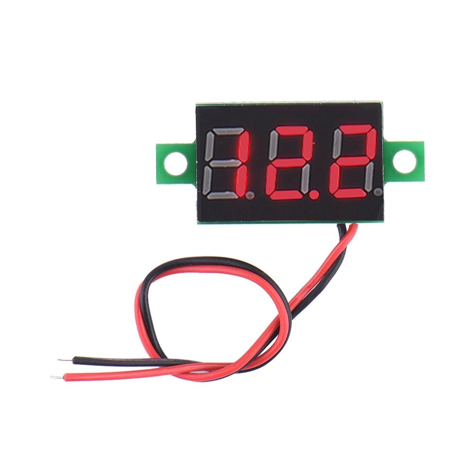 small resolution of led digital voltage voltmeter dc 4 5 30v 2 wire led display voltmeter voltage panel meter