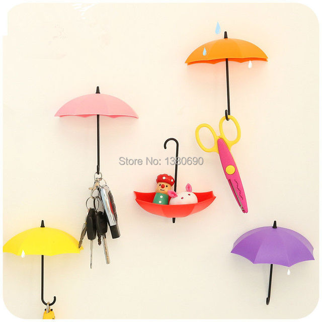 3pcs Pothook Creative Free Nail Storage Hook Umbrella Shaped ...