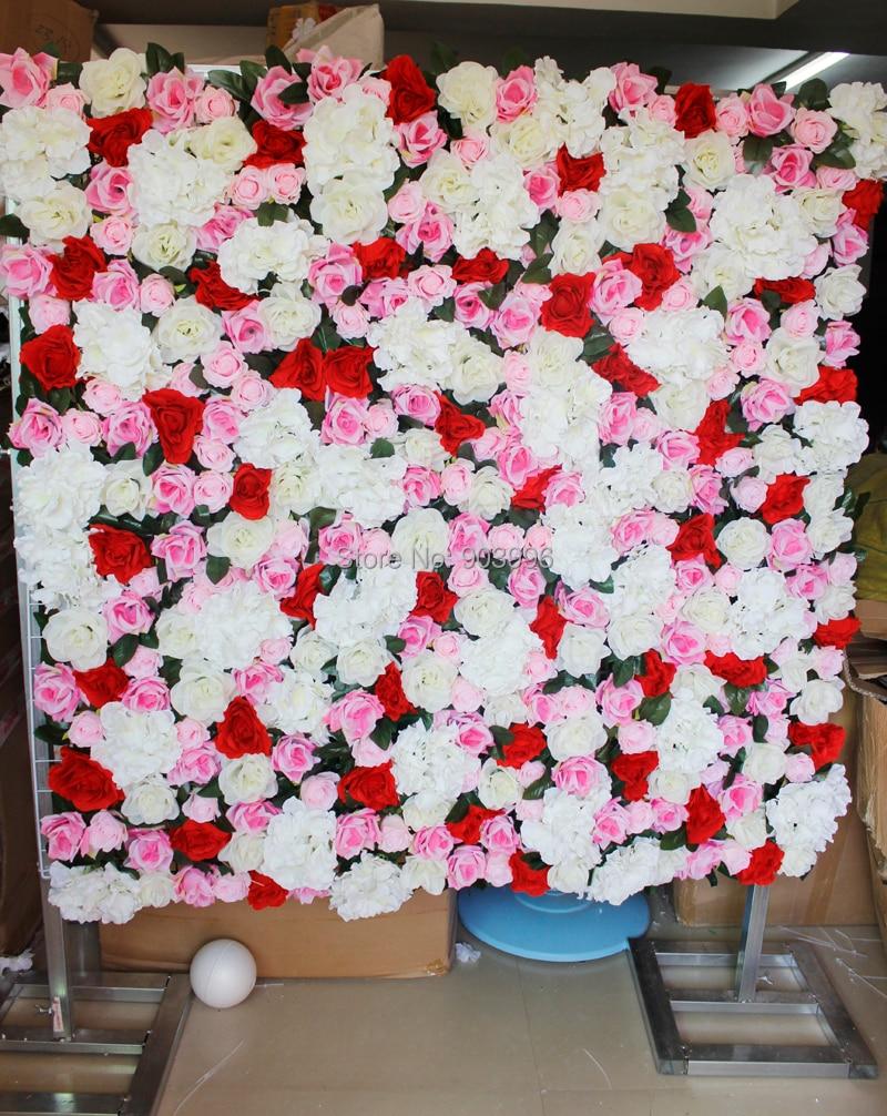 Aliexpress.com : Buy SPR High quality wedding flower wall with green ...