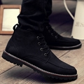 New Genuine leather Warm fur Ankle Boots Brand Black Suede leather Men Winter Boots 2017 Casual Lace Up Winter Men shoes