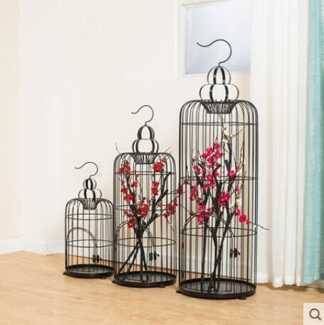 Contracted retro creative decoration tieyi birdcage flower birdcage large window display a wedding props decorations