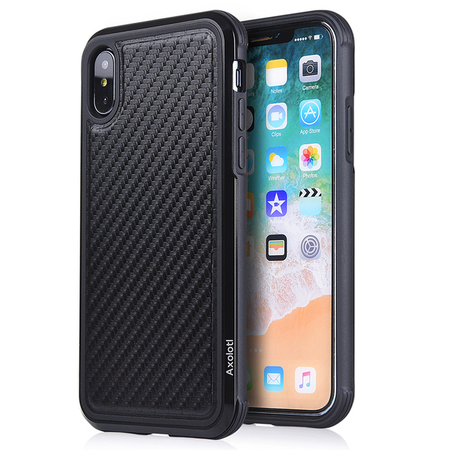 huge selection of 3a628 90eba Dikes Case For iPhone X XS Cover Military Grade Drop Protection Case For  iPhone X XS Aluminum Frame Axolotl Defence Back Cover-in Fitted Cases from  ...