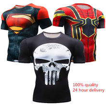 New 2018 Short Sleeve Spot Men's Civil War Compression T-shirt Marvel Avengers MMA Clothing Comics Super Men's T-Shirt Tops(China)