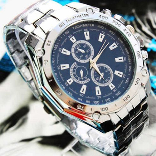 Hot Sale Luxury Fashion Men Stainless Steel Quartz Analog Hand Sport Wrist Watch Watches 0KVA hot horloge new desigh hot sale colorful boys girls students time electronic digital wrist sport watch 2017may10