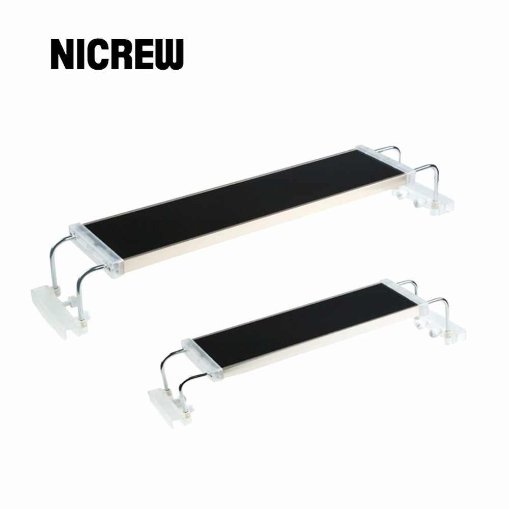 Nicrew ADS Aquarium Plant LED Lighting Light Aquatic Chihiros 7500K 12W 18W 24W Ultra thin Aluminum Alloy For Fish Tank