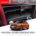 ZUNDUO Автомобильный Центральный ящик для хранения Volkswagen T-ROC 2017 2018 2019 TROC T ROC консоль для хранения Tidying