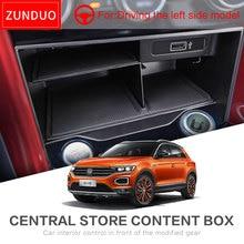 Carro Caixa de Armazenamento Central Para Volkswagen T-ROC ZUNDUO 2017 2018 2019 Console De Armazenamento Arrumação TROC T ROC