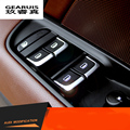 Car cover trim window lift button switch sequin car styling stainless steel interior strips 3D sticker for Audi A3 A4 A6 Q3 Q5
