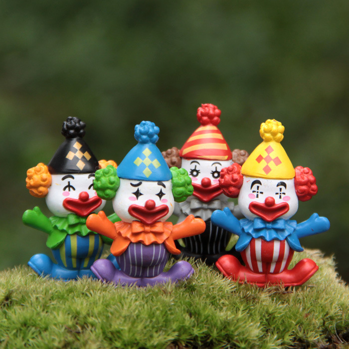 US $1 51 17% OFF|3cm 4pcs/lot clown DIY doll ornaments model Landscape Cute  Action Figure Toy collection cartoon decoration gift-in Electronic Pets