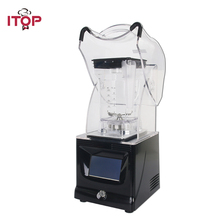 ITOP Professional Blender Touchpad Smoothies Blender Commercial Food Mixer Juicer With Sound Cover Ice Crushing Maker